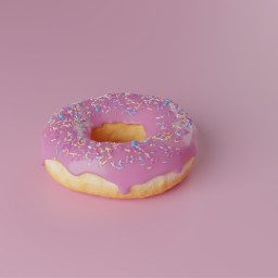 donut yummy food pink freetoedit
