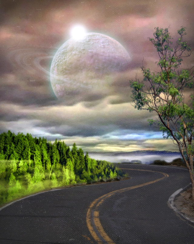 #freetoedit #myedit #madewithpicsart  #picsarteffects #surreal#fantasy #road#moon#sky #clouds #tree   @picsart @freetoedit  Stickers from @pajolie1 @stone90 @seyyyahh