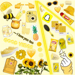 yellow pastel pastelyellow aesthetic stickers freetoedit