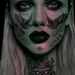 freetoedit tattoo tattooart facetattoo