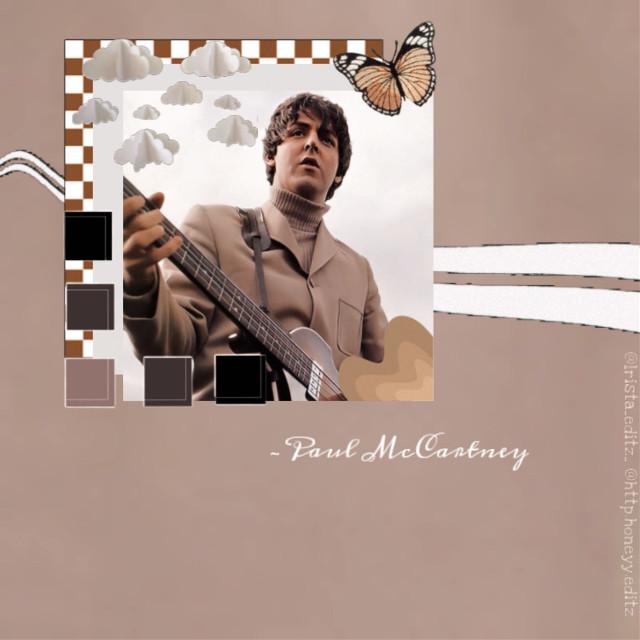 Paul McCartney  🤎🤍  #paulmccartney #thebeatles #beige #brown #edit  #freetoedit