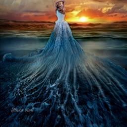 freetoedit dress beach fantasy surreal ecsurrealisticworld surrealisticworld