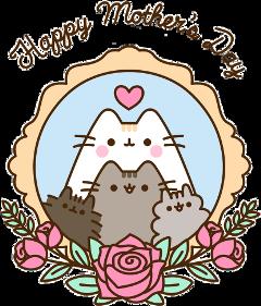 pusheen cat mothersday roses freetoedit