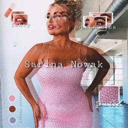 freetoedit sarinanowak model pink makeup