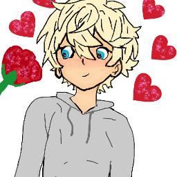 cute cuteanimeboy mybf heartsandflowers messyhair freetoedit