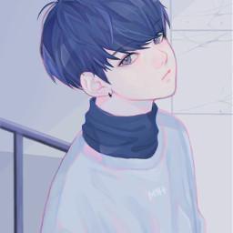 anime boy art sad alone freetoedit