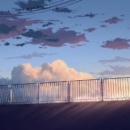 anime boy art sad alone scenery freetoedit