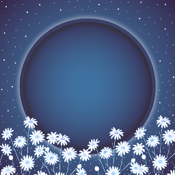 frame stayinspired blue daisy galaxy freetoedit ftestickers