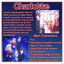 anime animegirl animeboy charlotte animeboys