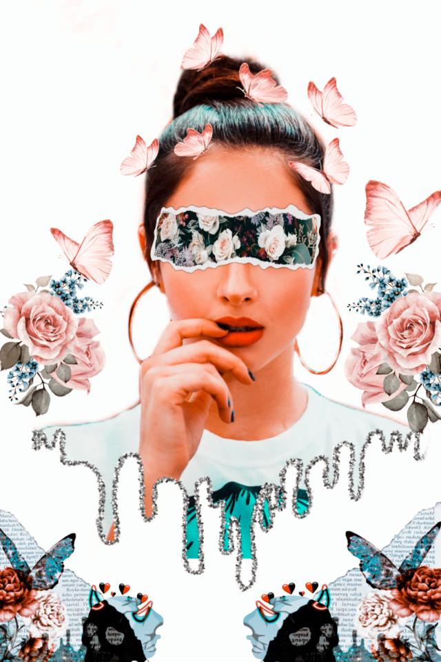 #freetoedit #creative#madewithpicsart #beauty #interesting #picsart #imagination #butterfly #flower #pink #remixit #remixed