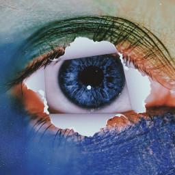 eye rippedpaper eyeedit tornpaper freetoedit