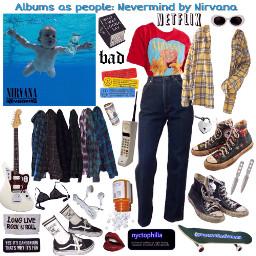 nirvana nevermind albumsaspeople nichememe aesthetic freetoedit