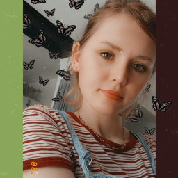 freetoedit aesthetic girl vintage butterfly