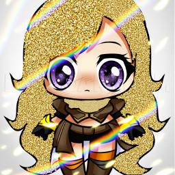 rwbychibi rwby_yang glitter  pls glitter