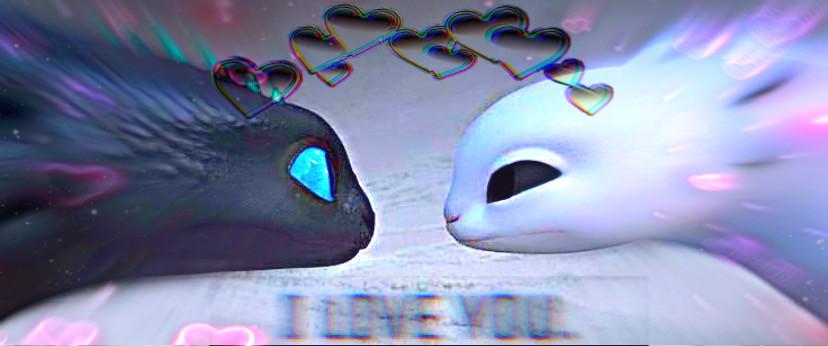 Blue x dark  #httyd #oclove #oc #love #dragonlove #lightfury #nightfury #httydedit #glitchlove #freetoedit