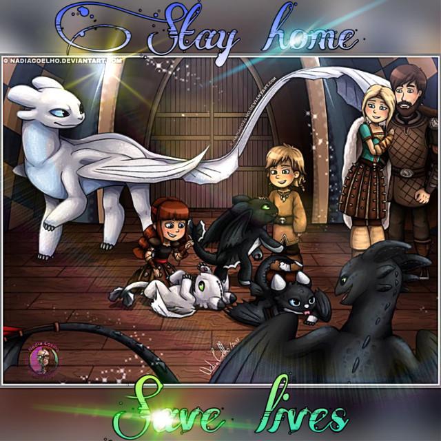 Stay home guys.     #httyd #httydedit #lightfury #nightfury #nightlights #hiccupfamily #stayhome
