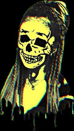 freetoedit skeleton skull drip yellow