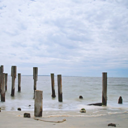 freetoedit outdoorphotography oceanview abandonepier cloudysky