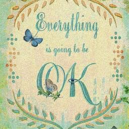 freetoedit everythingwillbeokay text quote butterflies