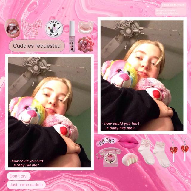i can be a cutie too uwu                     #pink #femme #girly #littlespace #cglre #littleme #pinkaesthetic #babycore #kidcore #stuffies #edit #freetoedit