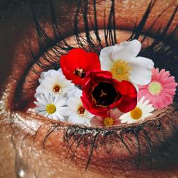 freetoedit cry flowereyes pretty sad ecflowereyes