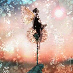 dandelions dientedeleón fairy hada madewithpicsart
