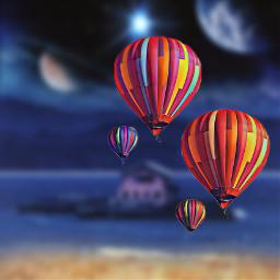 freetoedit ballons galaxy homesweethome earth