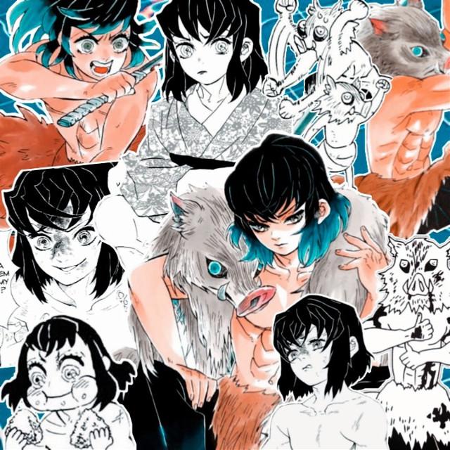 Repost    #freetoedit #kimetsunoyaiba #demonslayer #hashibirainosuke #inosuke #blue #kimetsunoyaibamanga #manga