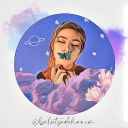 freetoedit picsart edit remix remixit challenge girl clouds f bulutsadehanim
