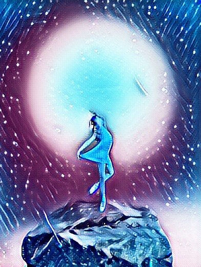 #freetoedit #galaxy #sky #moon #girl #stars #dust #dst