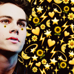 freetoedit dylanobrien eyes sunflower
