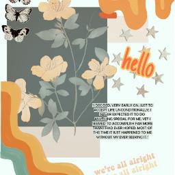 freetoedit vintageaesthetic retro butterflies hello