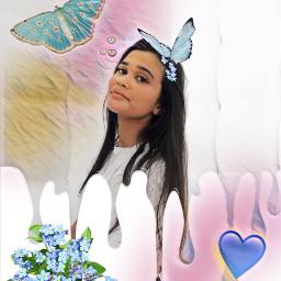 freetoedit blue butterfly flower flowers irccameraready cameraready
