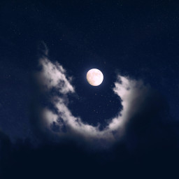 moon sky stars clouds background freetoedit