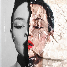 paper aesthetic blackandwhite crumpledpaper background freetoedit