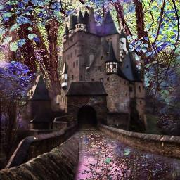 freetoedit doubleexposure landscape castle forest