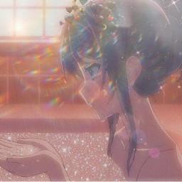 animegirl coeur lumiere arcoiris🌈 lune freetoedit