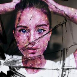 space girl eyes beautiful девочка_космос😍 freetoedit