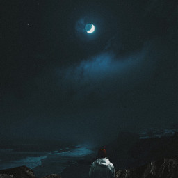 freetoedit surreal surrealism moon alone