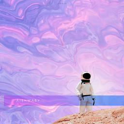 space fluid surreal surrealism astronaut freetoedit