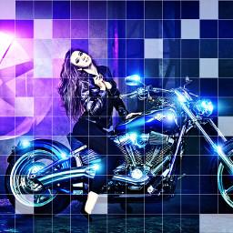 colorfull edit art motorcycle