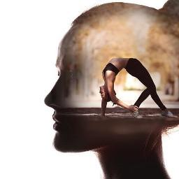 freetoedit yoga yogalife doubleexposure