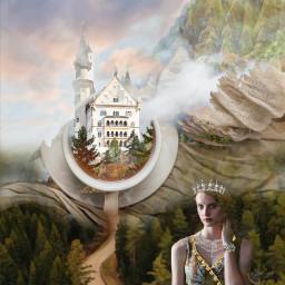 freetoedit castle fantasy queen mountains ircteatime teatime