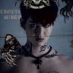 freetoedit saintsup horror skeleton badguy scary