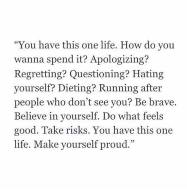 #thisislife ~make yourself proud~