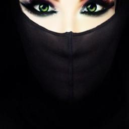 freetoedit black greeneyes👀 eyes greeneyes