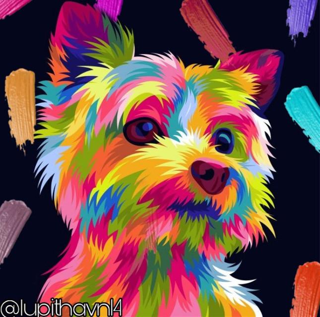 #freetoedit #dog #rainbow #pallete #colors