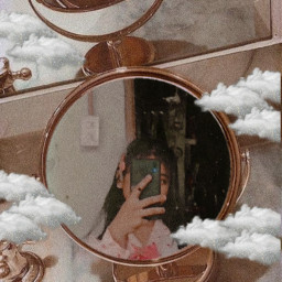 aesthetic mirror freetoedit
