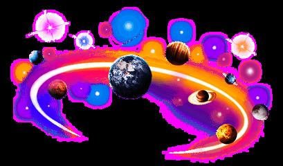 crown star neon galaxy plants freetoedit