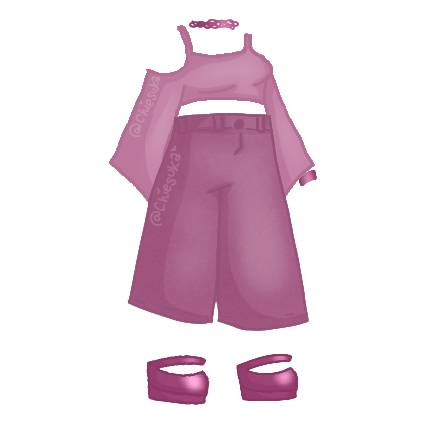 So hey girl hey. Thought I'd make an early 2000s inspired outfit whilst listening to some Gwen Stefani... Is it cute? I cannot tell 😅 #gacha #gachalife #gachaclothes #outfit #gachaoutfit #twopiece #flarepants #flaretop #pink #purple #2000s #2000saesthetic #coldshoulder #chiesuka    #freetoedit